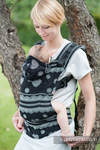 Ergonomic Carrier, Baby Size, jacquard weave 100% cotton - wrap conversion from Glamorous Lace - Second Generation.