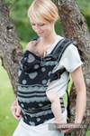 Nosidełko Ergonomiczne z tkaniny żakardowej 100% bawełna , Baby Size, KORONKA GLAMOUR - Druga Generacja.
