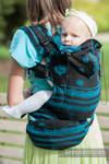Ergonomische Tragehilfe, Größe Toddler, Jacquardwebung, 100% Baumwolle - DIVINE LACE - Zweite Generation