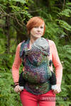 Ergonomic Carrier, Toddler Size, jacquard weave 100% cotton - COLORS OF RAIN - Second Generation
