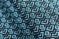 Moja druga chusta kółkowa do noszenia dzieci - LITTLE LOVE - OCEAN BLUE, splot żakardowy - bawełniana - ramię bez zakładek - long 2.1m (drugi gatunek) #babywearing