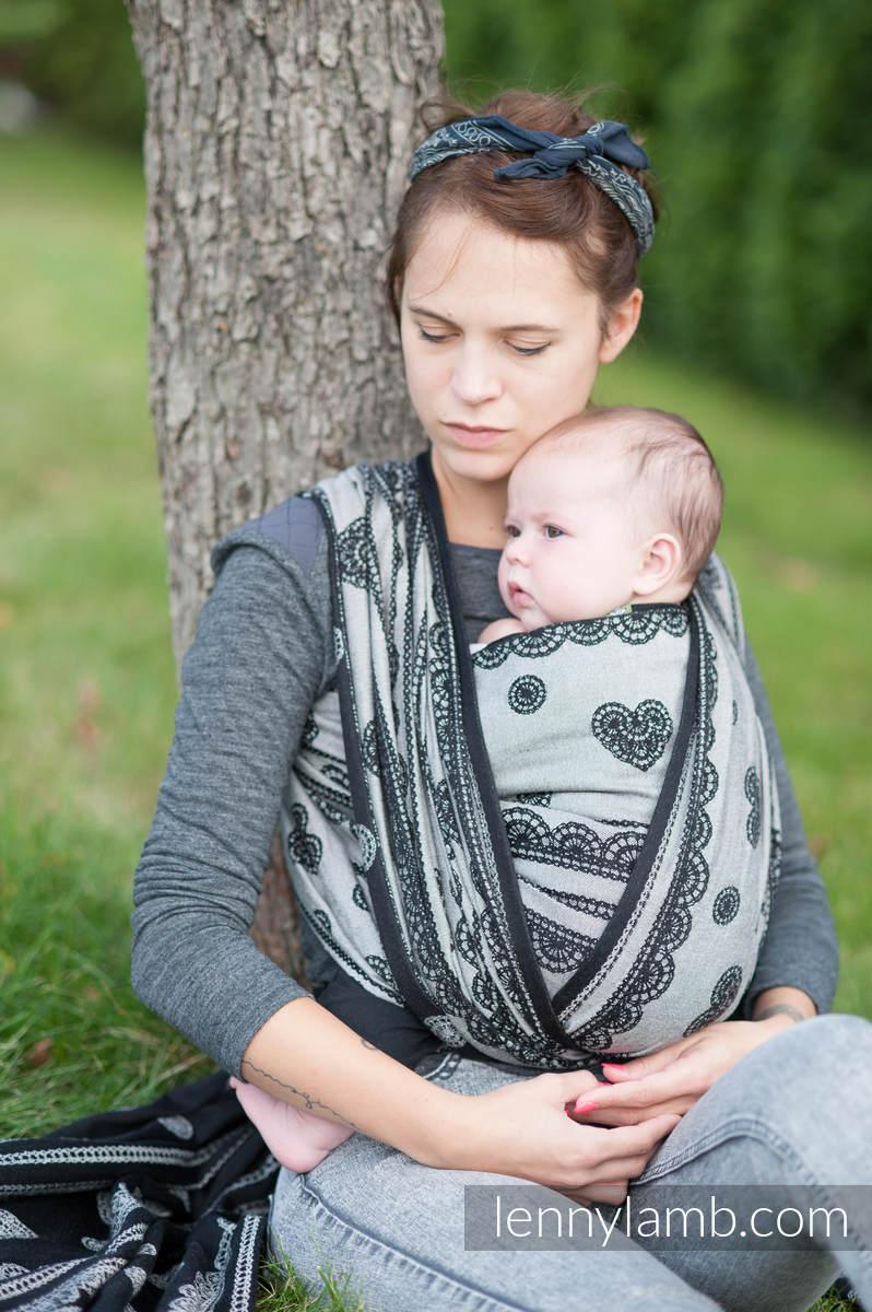 a041a98ef09440 Żakardowa chusta do noszenia dzieci, 100% bawełna - KORONKA GLAMOUR -  rozmiar S (drugi gatunek)