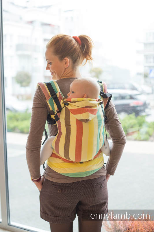 Ergonomic Carrier, Toddler Size, broken-twill weave 100% cotton - wrap conversion from SUNNY SMILE - Second Generation (grade B) #babywearing