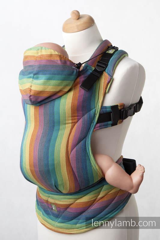 Nosidełko Ergonomiczne z tkaniny skośnokrzyżowej 100% bawełna , Baby Size, GAJA, Druga Generacja (drugi gatunek) #babywearing