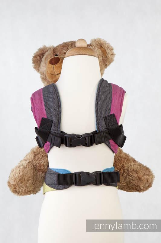 Nosidełko dla lalek z tkaniny chustowej, 60% bawełna 40% bambus - ZMIERZCH #babywearing