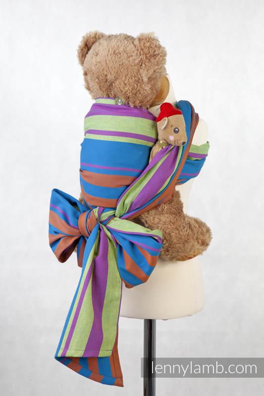 Doll Sling, Broken Twill Weave, 100% cotton - ZUMBA BLUE #babywearing