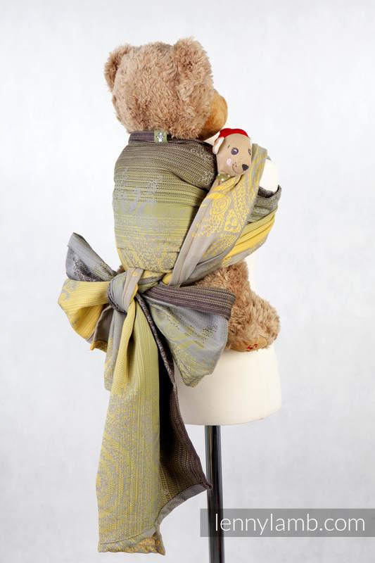 Doll Sling, Jacquard Weave, 100% cotton - ROYAL INDIAN PEACOCK, GREEN #babywearing