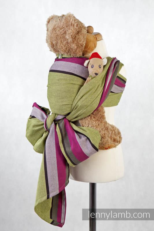 Chusta dla lalek, tkana splotem skośno-krzyżowym, 100% bawełna - LIMONKA z KHAKI #babywearing