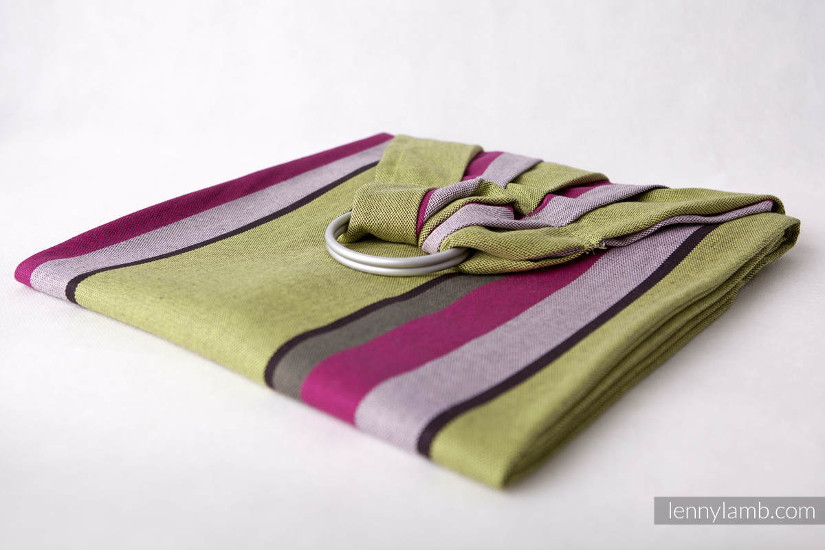 Ring Sling - 100% Cotton - Broken Twill Weave -  Lime & Khaki #babywearing