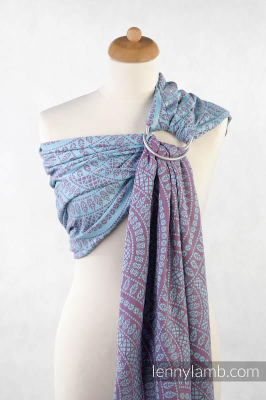 Ringsling, Jacquard Weave (100% cotton) - PEACOCK'S TAIL (grade B) #babywearing