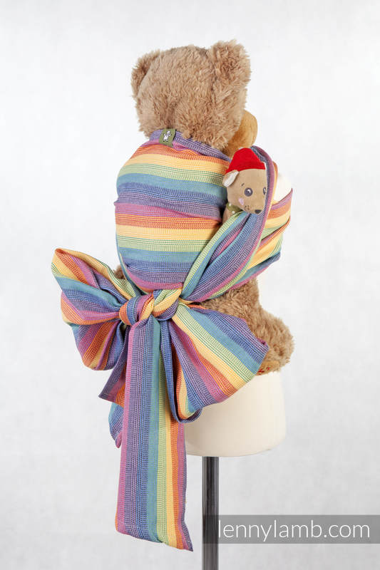 Doll Sling, Broken Twill Weave, 60% cotton 40% bamboo - SUNRISE RAINBOW #babywearing