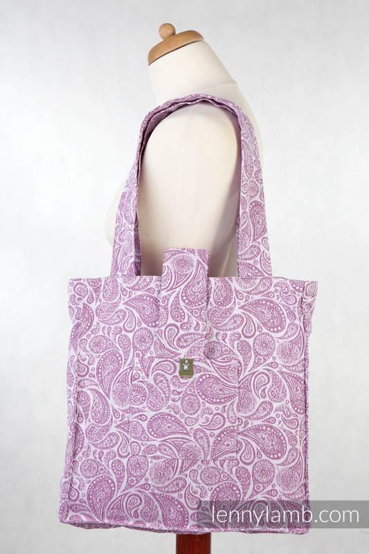 02d00defcc Shoulder bag made of wrap fabric (100% cotton) - PAISLEY PURPLE   CREAM