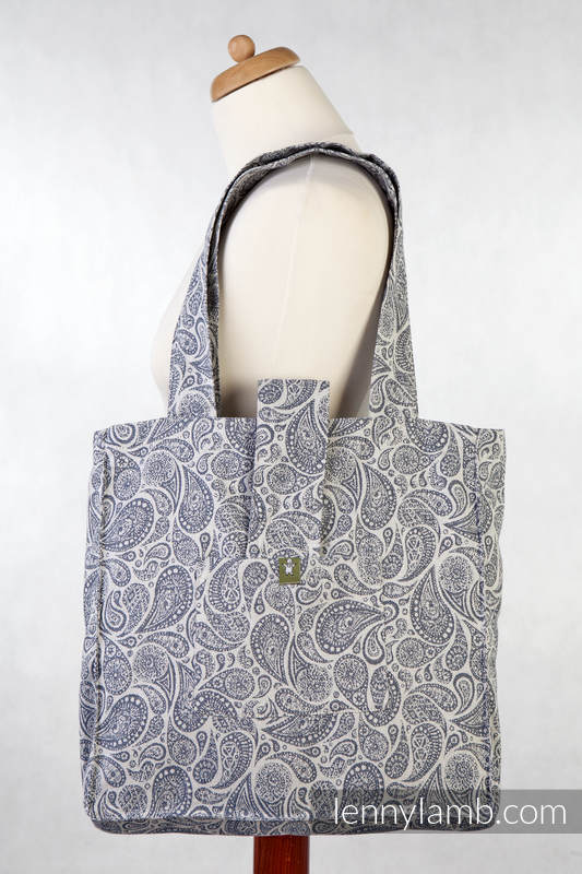 Shoulder bag made of wrap fabric (100% cotton) - PAISLEY NAVY BLUE & CREAM - standard size 37cmx37cm #babywearing