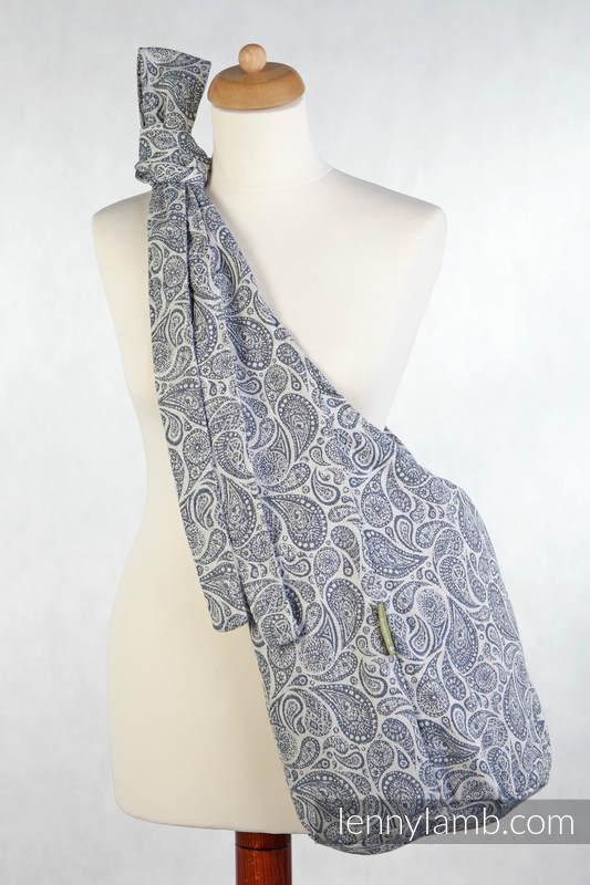 Hobo Bag made of woven fabric, 100% cotton  - PAISLEY NAVY BLUE & CREAM #babywearing