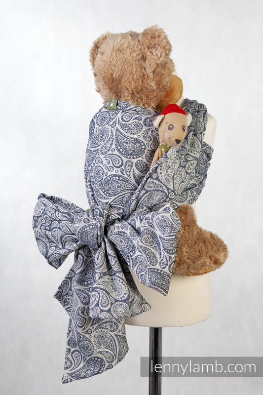 Doll Sling, Jacquard Weave, 100% cotton - PAISLEY NAVY BLUE & CREAM #babywearing