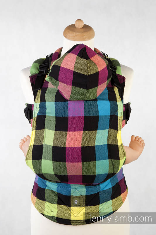 Ergonomic Carrier, Toddler Size, diamond weave 100% cotton - wrap conversion from DIAMOND PLAID - Second Generation #babywearing