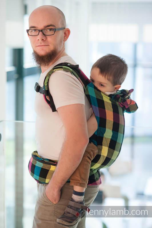Nosidełko Ergonomiczne , splot diamentowy, 100% bawełna , Baby Size, DIAMENTOWA KRATA - Druga Generacja #babywearing
