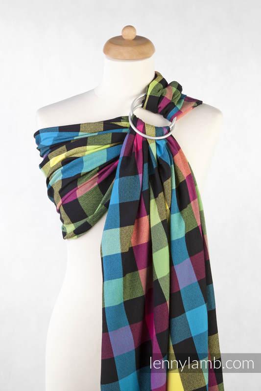 Chusta kółkowa do noszenia dzieci, tkana splotem diamentowym, bawełna - DIAMENTOWA KRATA #babywearing
