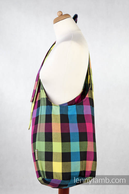 Hobo Bag made of woven fabric, 100% cotton - DIAMOND PLAID #babywearing
