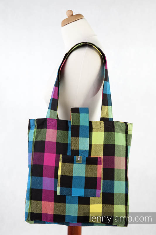 Shoulder bag made of wrap fabric (100% cotton) - DIAMOND PLAID - standard size 37cmx37cm #babywearing