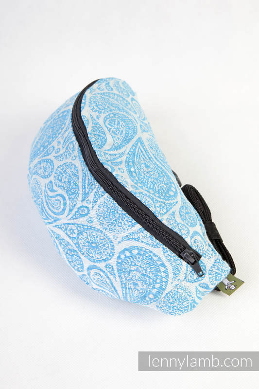 Saszetka z tkaniny chustowej , (100% bawełna)- PAISLEY TURKUS z KREMEM #babywearing