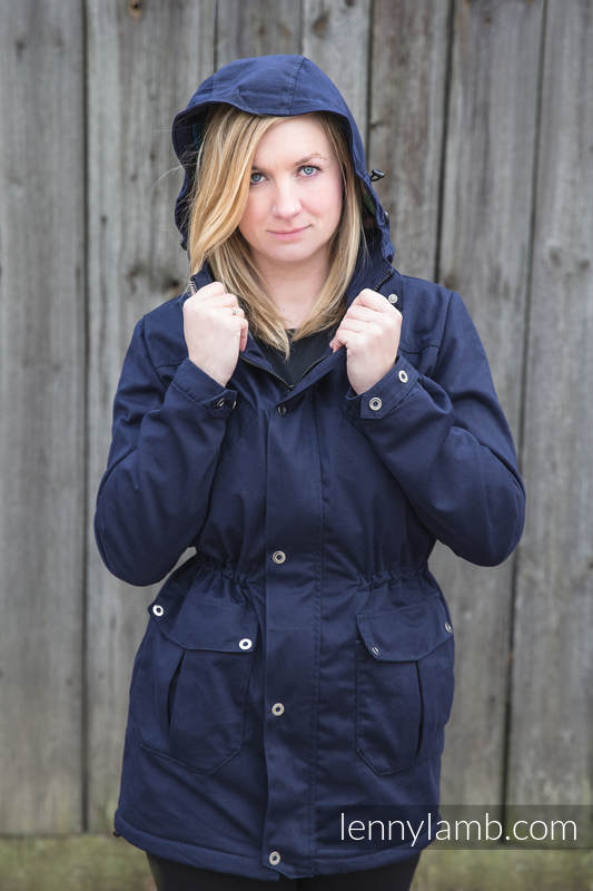 Parka Babywearing Coat - size 5XL - Navy Blue & Customized Finishing #babywearing