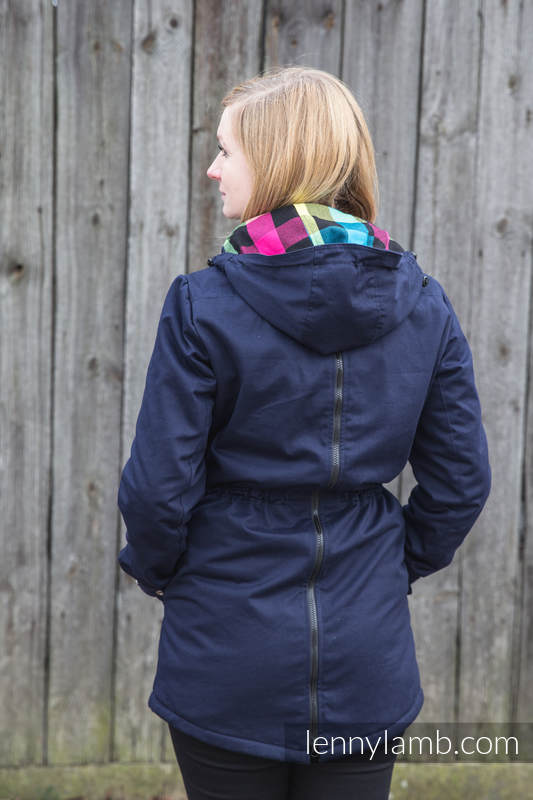 Parka Babywearing Coat - size 4XL - Navy Blue & Customized Finishing #babywearing