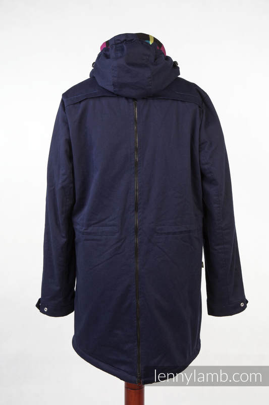 Parka Babywearing Coat - size M - Navy Blue & Customized Finishing #babywearing