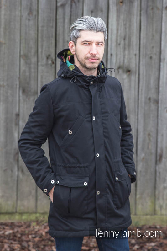 Parka Coat - size XXL - Black & Customized Finishing #babywearing