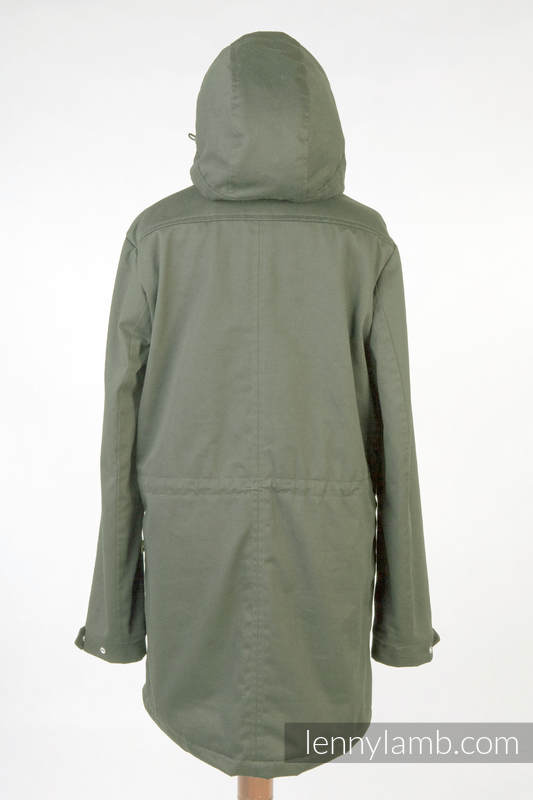 Parka Coat - size L - Khaki & Customized Finishing #babywearing
