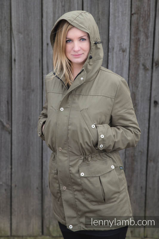 Parka Coat - size XXL - Khaki & Customized Finishing #babywearing