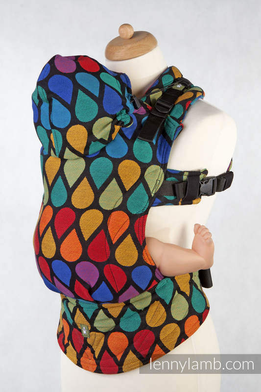 Ergonomic Carrier, Baby Size, jacquard weave 100% cotton - JOYFUL TIME, Second Generation (grade B) #babywearing