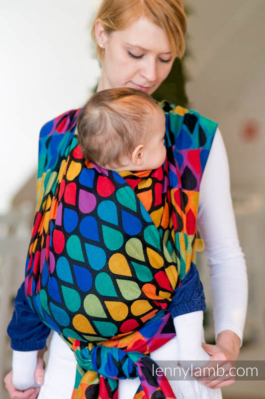 Baby Wrap, Jacquard Weave (100% cotton) - JOYFUL TIME- size XS #babywearing