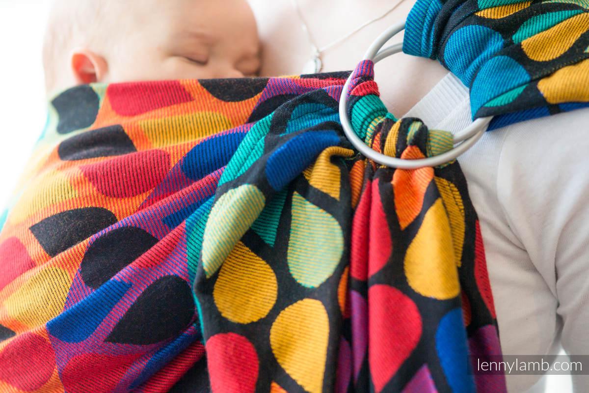 RingSling, Jacquardwebung (100% Baumwolle) - JOYFUL TIME - long 2.1m #babywearing
