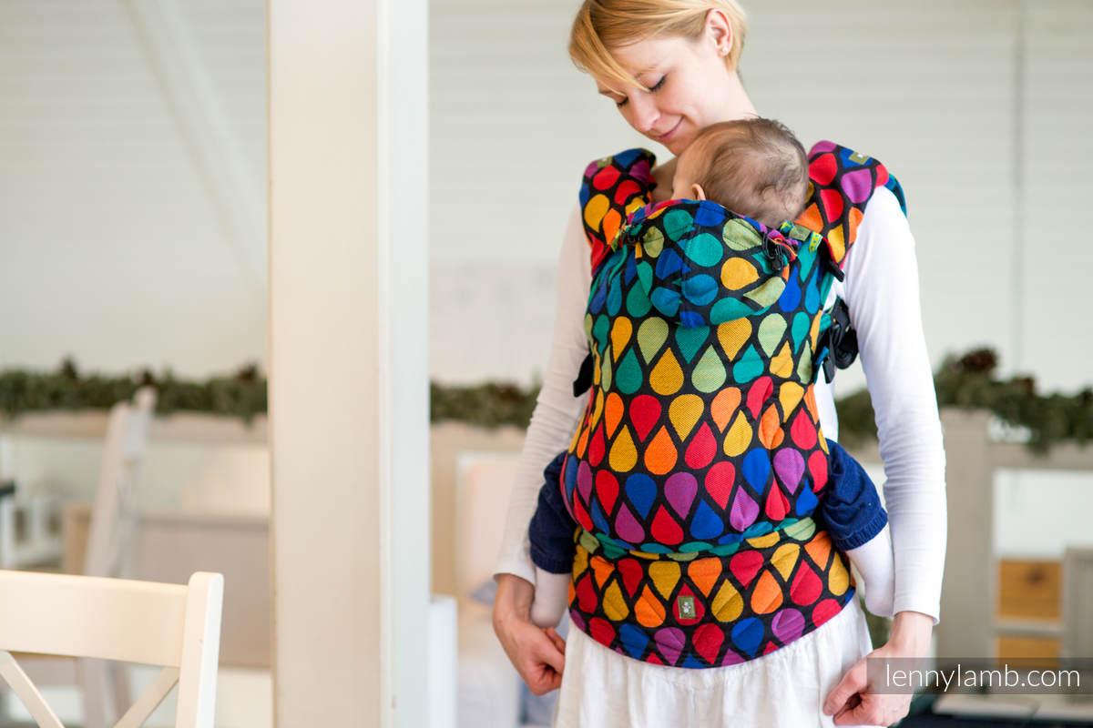 Nosidełko Ergonomiczne z tkaniny żakardowej 100% bawełna , Baby Size, RADOSNY CZAS, Druga Generacja #babywearing
