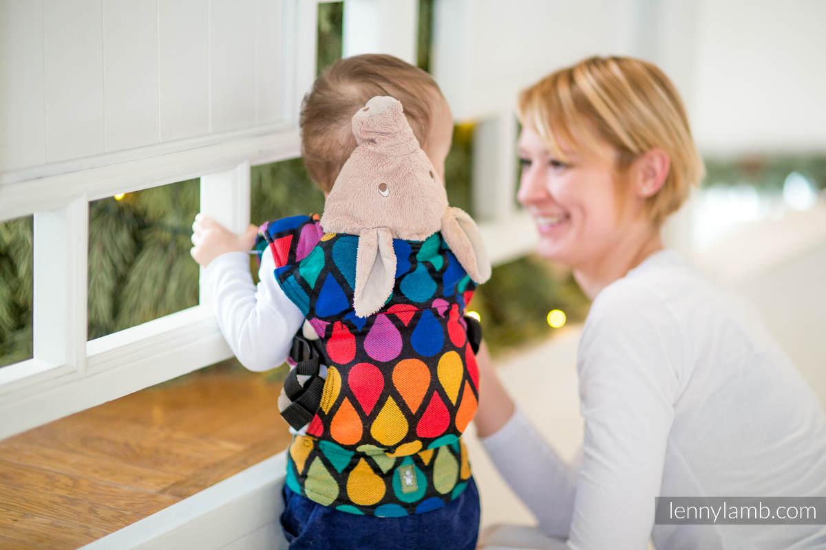 Mochila portamuñecos hecha de tejido, 100% algodón - JOYFUL TIME (grado B) #babywearing