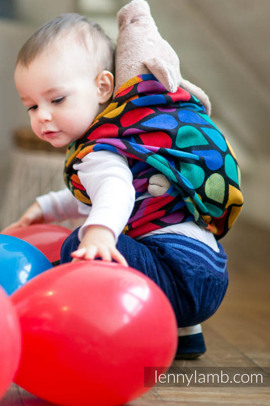 Doll Sling, Jacquard Weave, 100% cotton - JOYFUL TIME #babywearing