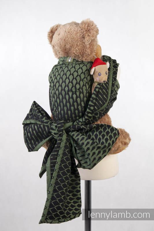 Żakardowa chusta dla lalek, 100% bawełna - SOPLE LODU ZIELONY Z CZARNYM #babywearing