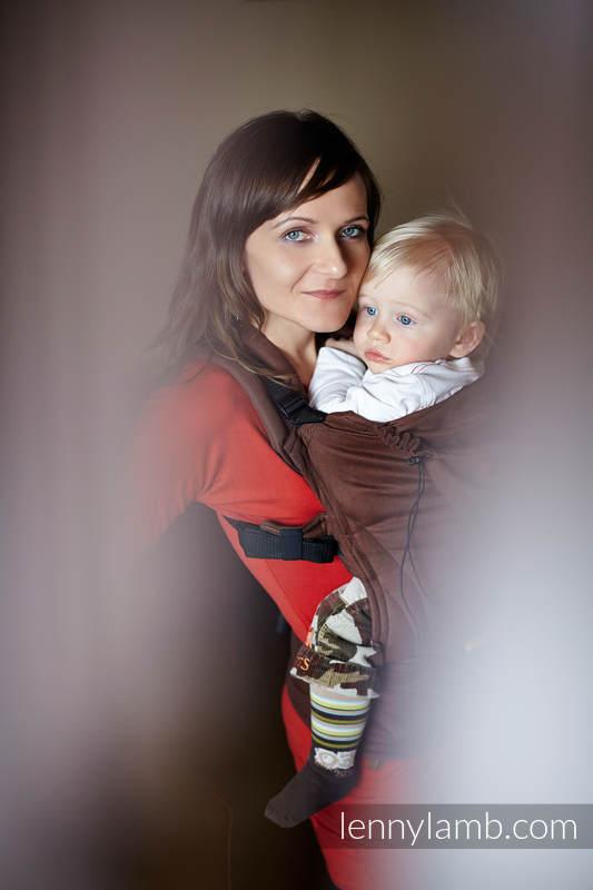 Ergonomic Carrier, Toddler Size, broken-twill weave 100% cotton - CHESTNUT #babywearing