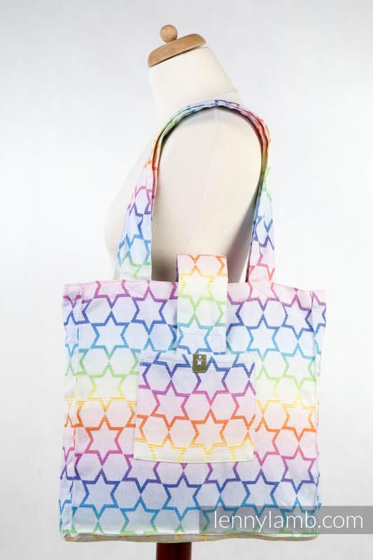Shoulder bag made of wrap fabric (100% cotton) - RAINBOW STARS Reverse - standard size 37cmx37cm #babywearing