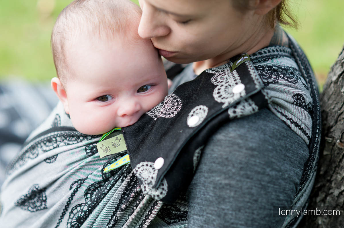 Set de protege tirantes y tiras de alcance (60% algodón, 40% Poliéster) - GLAMOROUS LACE  #babywearing