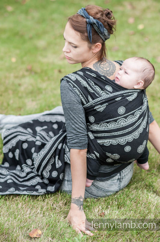 Baby Wrap, Jacquard Weave (100% cotton) - Glamorous Lace  - size XS #babywearing