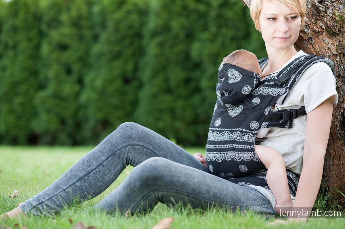 Ergonomische Tragehilfe, Größe Toddler, Jacquardwebung, 100% Baumwolle - GLAMOROUS LACE - Zweite Generation #babywearing