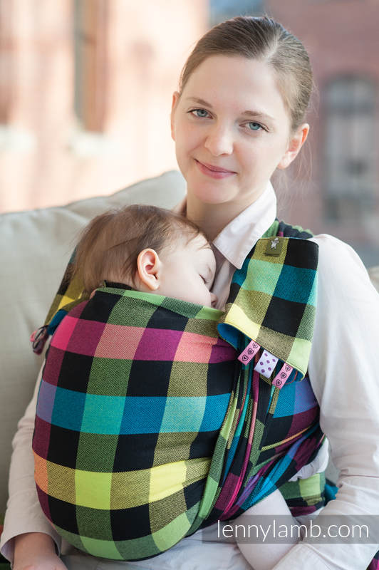 Baby Sling, Diamond Weave, 100% cotton - DIAMOND PLAID - size XL #babywearing