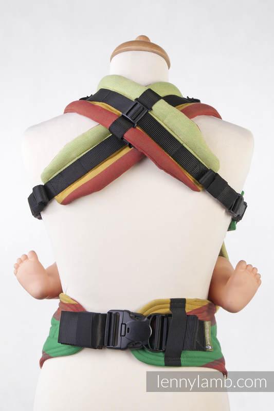 Nosidełko Ergonomiczne z tkaniny skośnokrzyżowej 100% bawełna , Baby Size, BABIE LATO, Druga Generacja #babywearing
