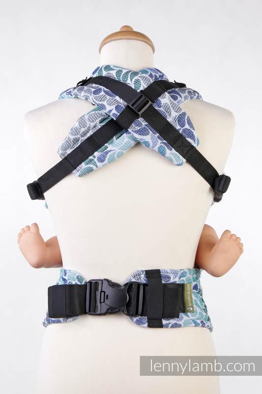 Nosidełko Ergonomiczne z tkaniny żakardowej 100% bawełna , Toddler Size, KOLORY NIEBA - Druga Generacja #babywearing