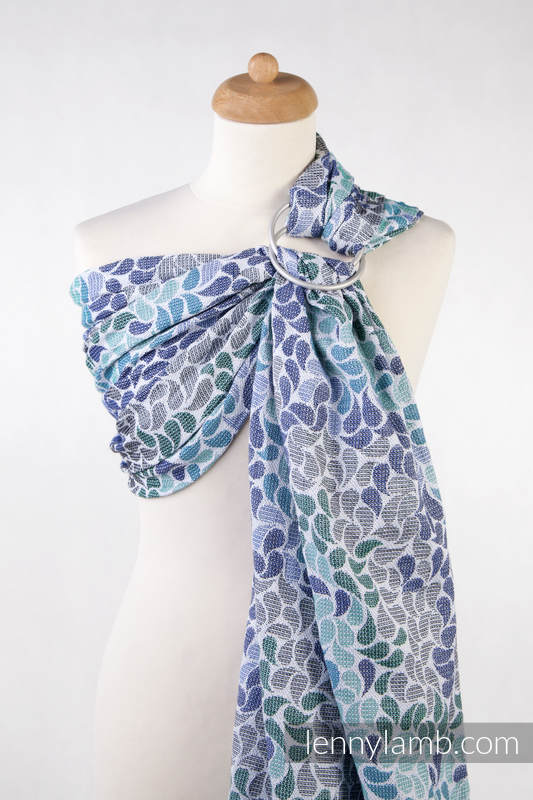 Ringsling, Jacquard Weave (100% cotton), with gathered shoulder - COLORS OF HEAVEN  - standard 1.8m #babywearing