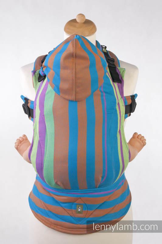 Nosidełko Ergonomiczne z tkaniny skośnokrzyżowej 100% bawełna , Baby Size, NIEBIESKA ZUMBA - Druga Generacja #babywearing