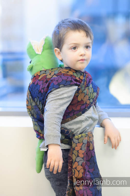Doll Sling, Herringbone Weave, 100% cotton - LITTLE HERRINGBONE DAYLIGHTS  #babywearing