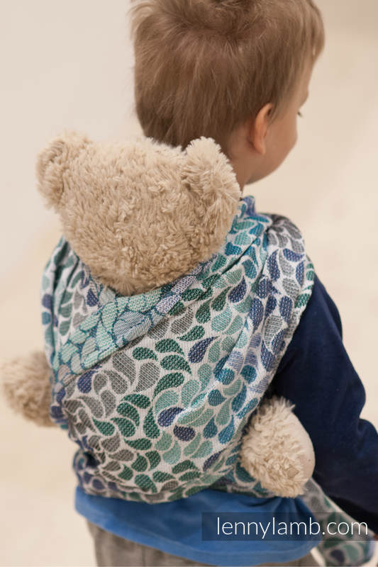 Doll Sling, Herringbone Weave, 100% cotton - LITTLE HERRINGBONE BLUE  #babywearing